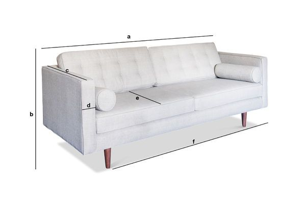 Product Dimensions Silkeborg Fabric Sofa
