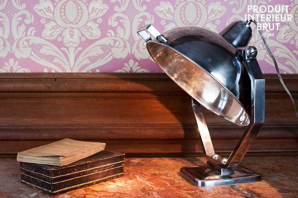 Silver-plate table lamp