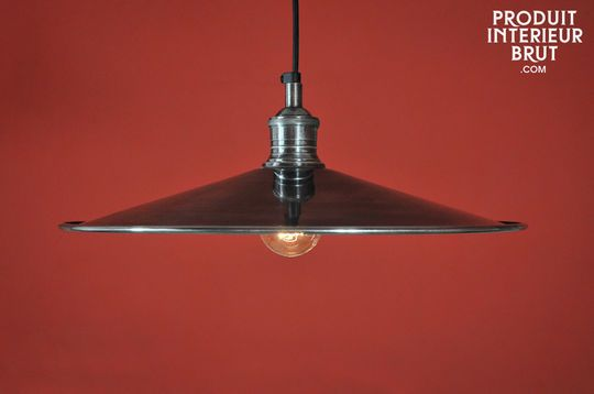 Silver-plated disk pendant light