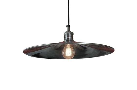 Silver-plated disk pendant light Clipped