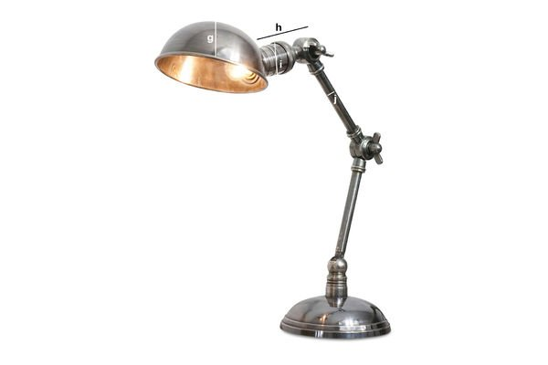 Product Dimensions Silver-plated double-arm light