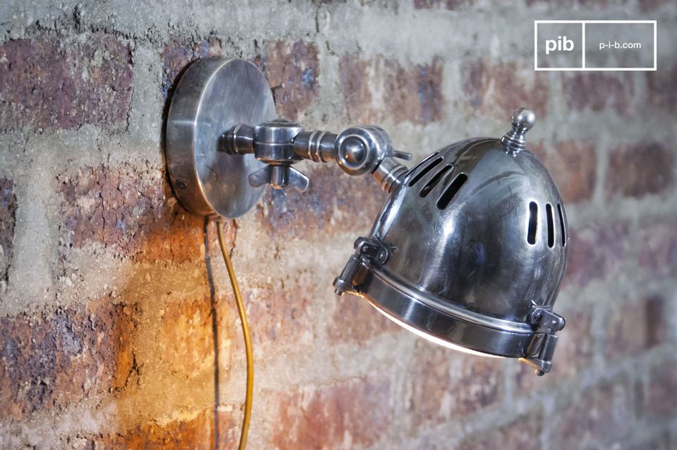 Silver-plated headlight wall lamp