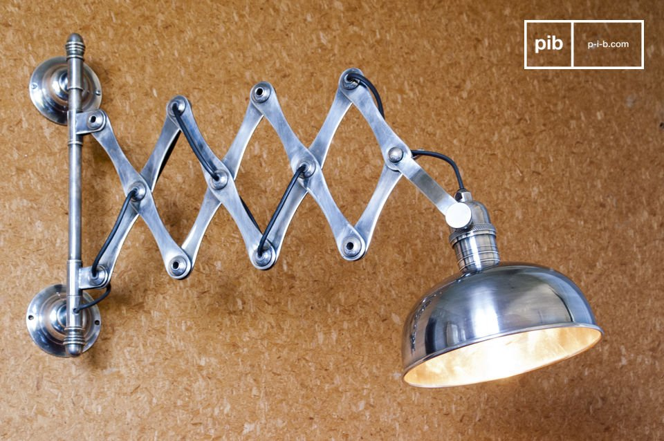 Silver-plated scissors wall lamp