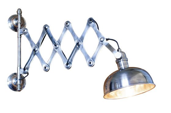 Silver-plated scissors wall lamp Clipped