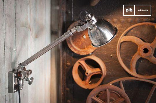 Silver telescopic wall lamp Tuk