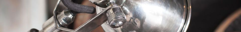 Material Details Silver telescopic wall lamp Tuk