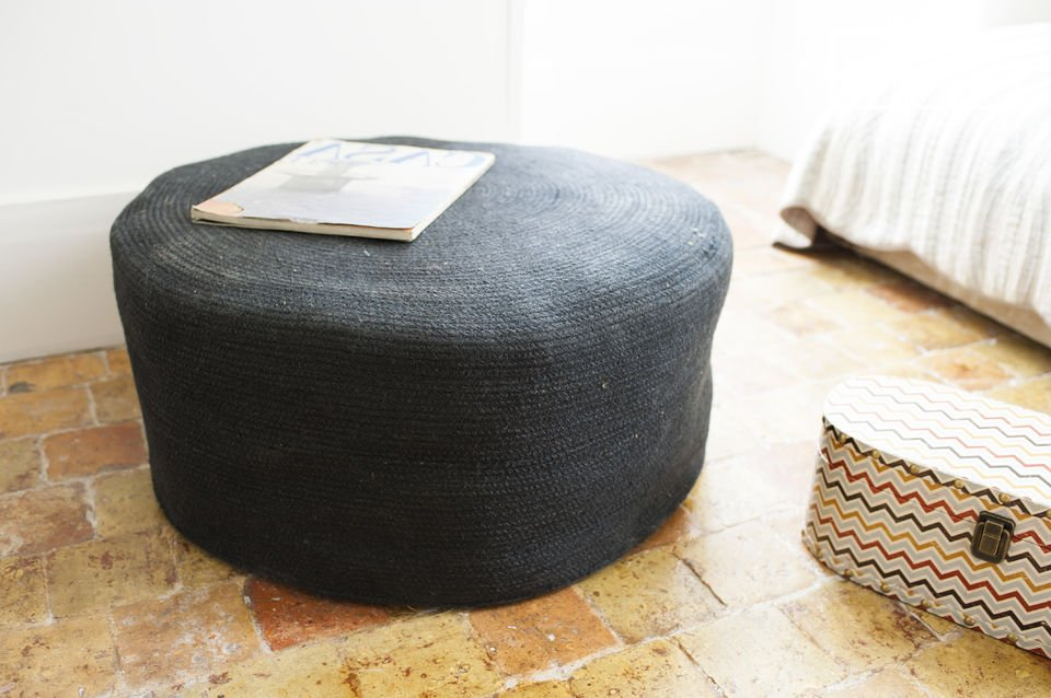An attractive ottoman which will add a cosy touch to your decor