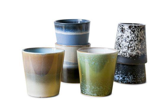 Six Ceramix coffee cups Clipped