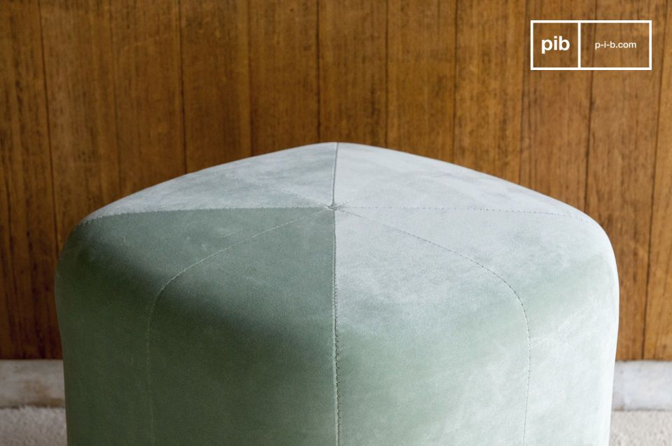The fabric can have a range of shades from light green to mint green.
