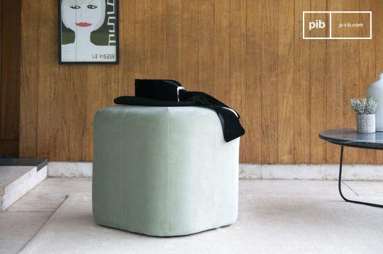 Skagen velvet green pouf