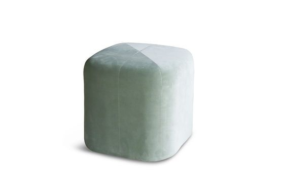 Skagen velvet green pouf Clipped