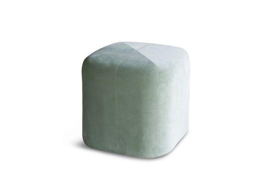 Skagen velvet green pouf Clipped