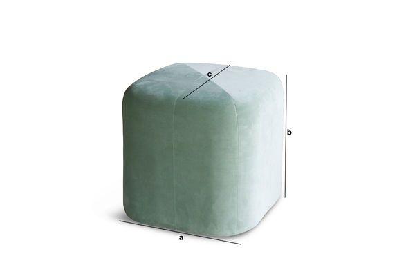 Product Dimensions Skagen velvet green pouf