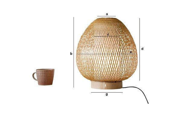 Product Dimensions Skib table lamp