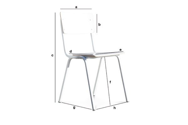 Product Dimensions Skole white chair