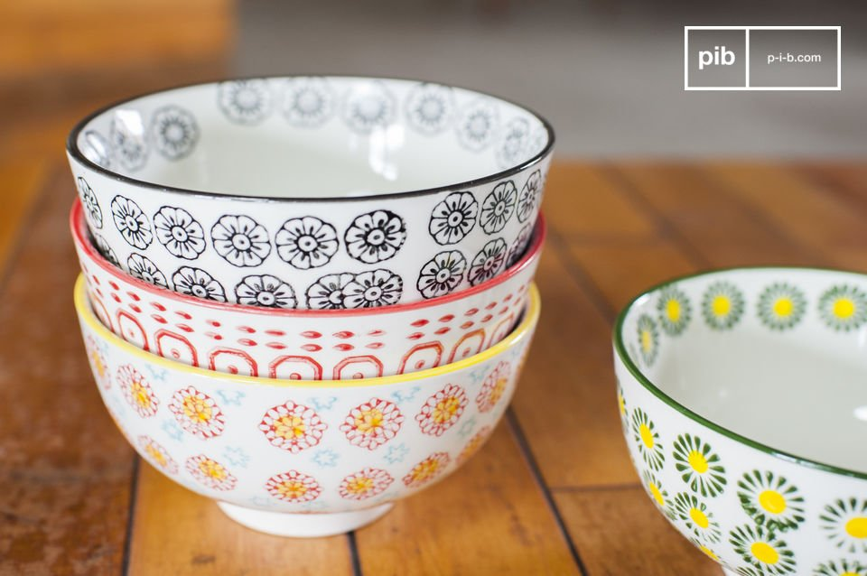 Retro style with different motifs