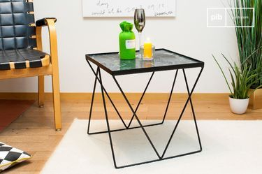 Small Bumcello table in green marble