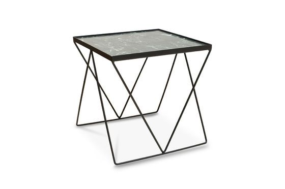 Small Bumcello table in green marble Clipped