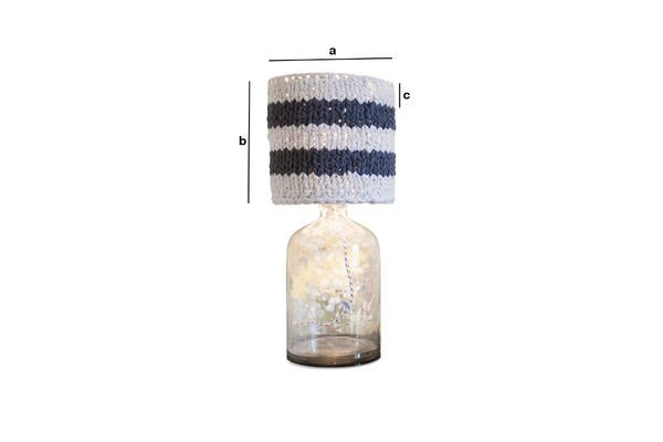 Product Dimensions Small lampshade Paimpol grey