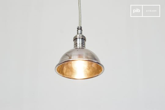Small silver-plated pendant light