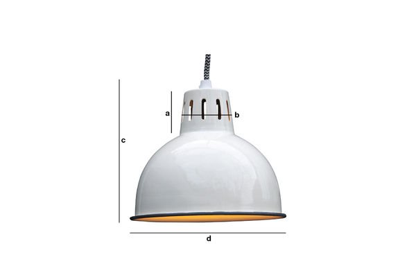 Product Dimensions Snöl White Hanging Light