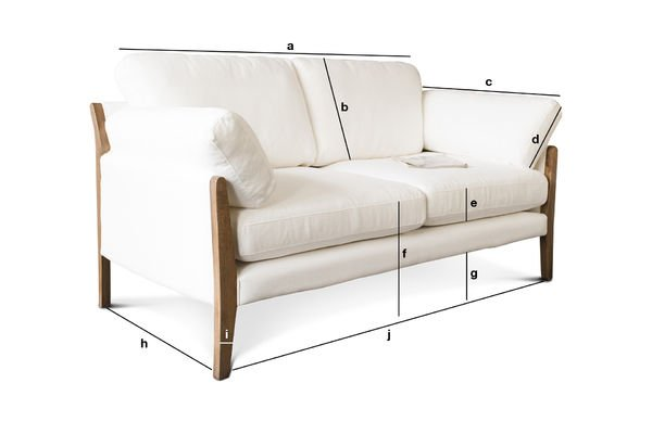 Product Dimensions Sofa Ariston white