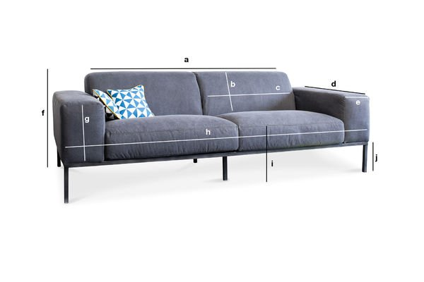 Product Dimensions Sofa Bergen
