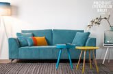 Sofa Dakota blue with removable cover