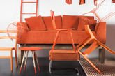 Sofa Dakota Orange with removable cover
