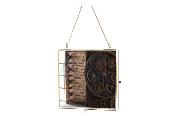 Product Dimensions Solliès Golden Bridge Square Mirror