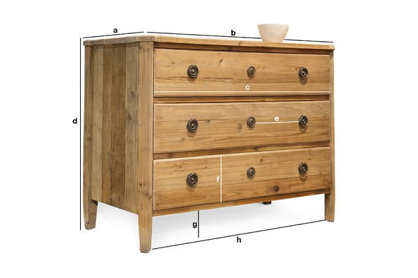 Product Dimensions Sonia chest of drawers