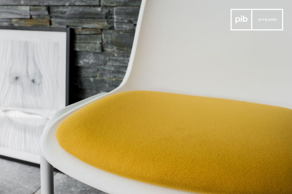 A retro design chair for a touch of bright color