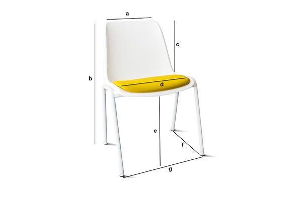 Product Dimensions Sören Ocher Chair