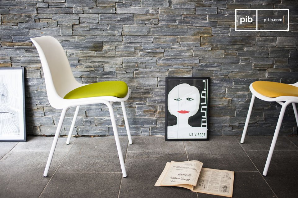 A neo-retro chair design that will add touch of colour
