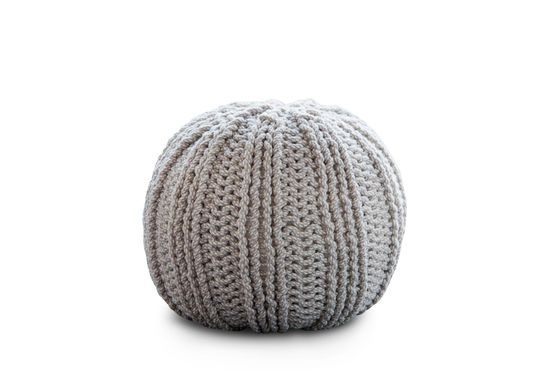 Spherical Knit Ottoman Clipped