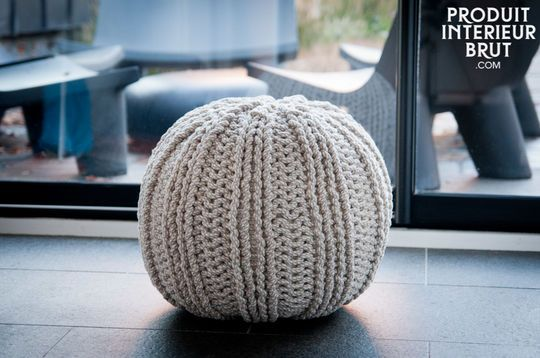 Spherical Knit Ottoman