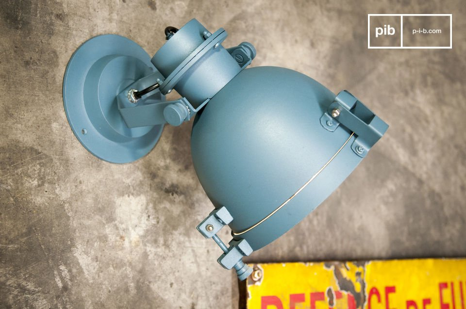 It is a very trendy industrial style piece that would work well in many interiors