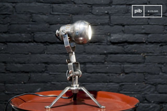 Industrial furniture décor, the Spoutnik brassed lamp