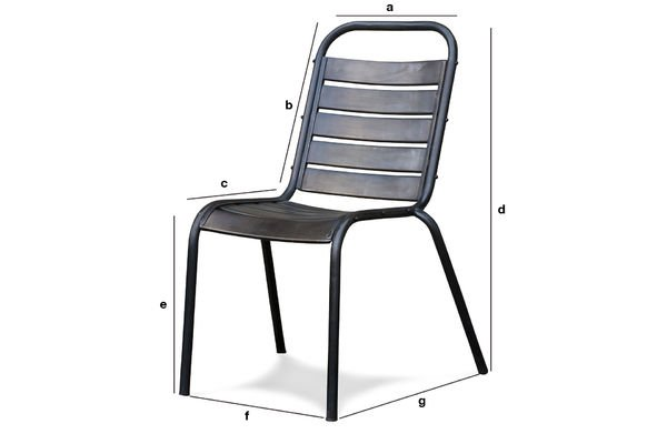 Product Dimensions Square chair