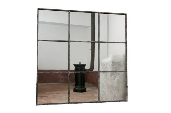 Square industrial mirror 9 sections Clipped