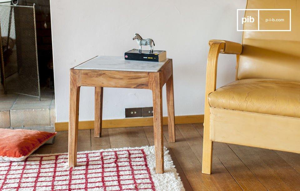 Square Side Table Marmori