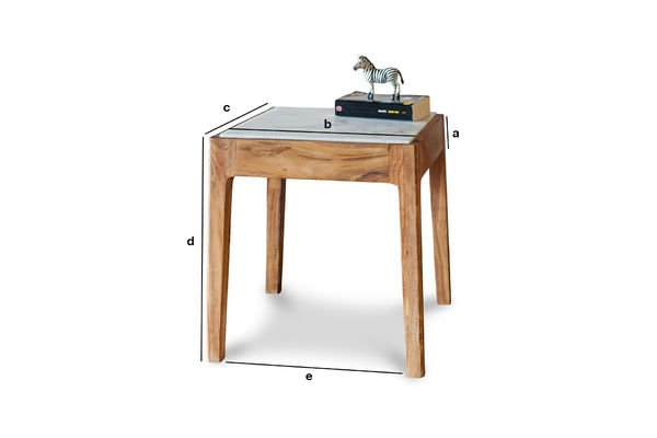 Product Dimensions Square Side Table Marmori