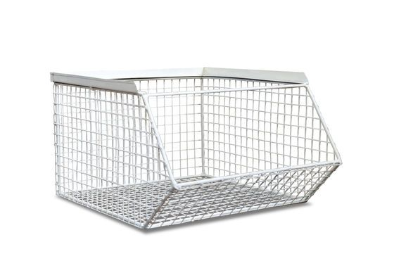 Stackable storage basket André Clipped