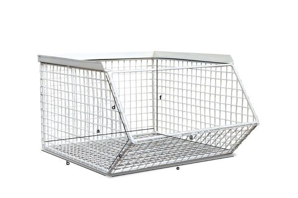 Product Dimensions Stackable storage basket André
