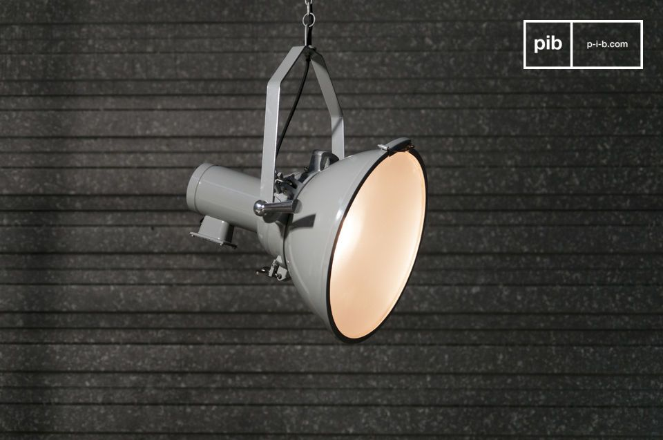 The style is reminiscent of industrial warehouse lighting.