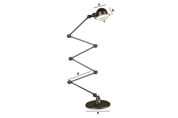 Product Dimensions Standard lamp Jieldé Loft hammered