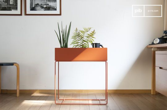 Standing Planter in Tan coloured Metal