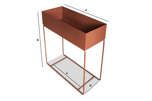 Product Dimensions Standing Planter in Tan coloured Metal