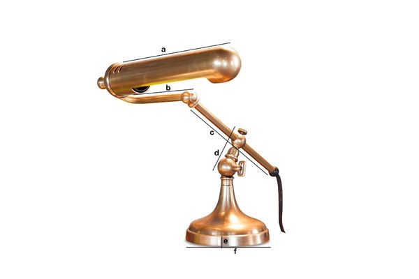 Product Dimensions Stanford brass desk lamp