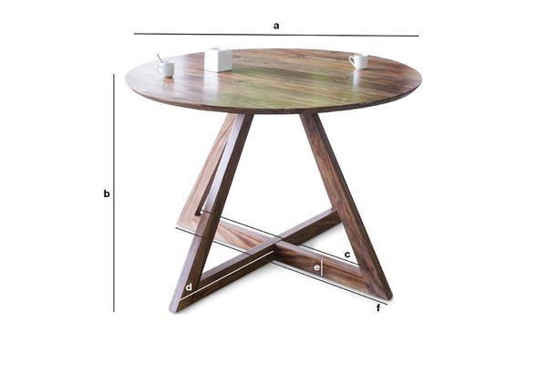 Product Dimensions Starbase round table